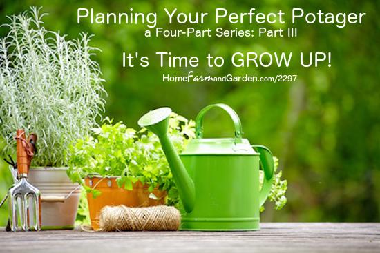 Vertical Gardening in a Potager