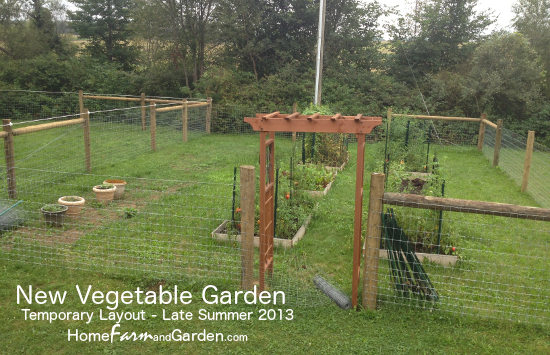 New Vegetable Garden - Temporary Layout 2013