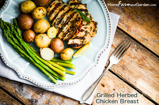 Herb Grilled Boneless, Skinless Chicken Breast