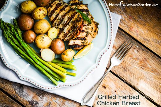 Herb Grilled Boneless, Skinless Chicken Breast
