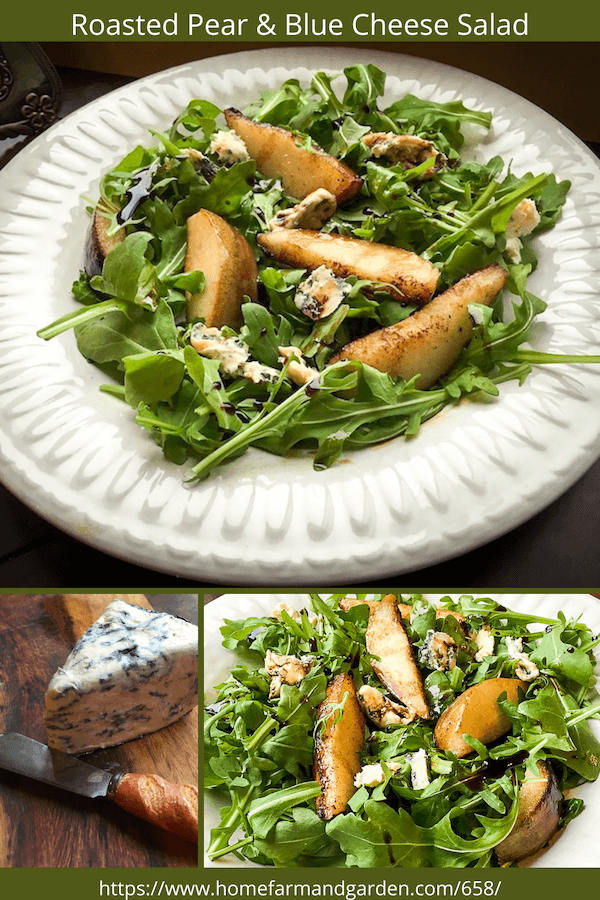roasted pear and blue cheese salad