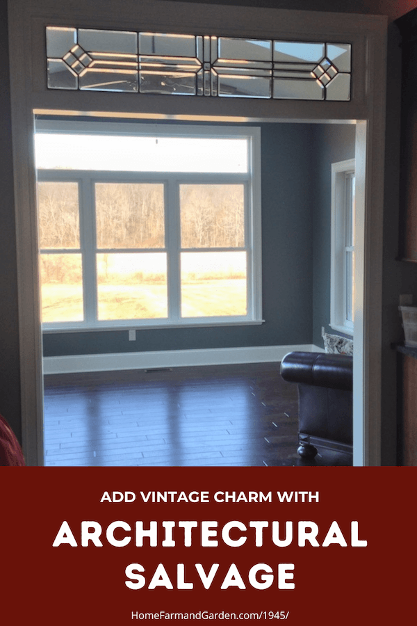 add vintage charm with architectural salvage