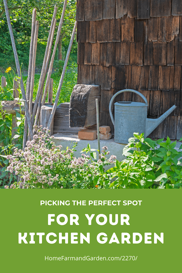 Picking the perfect spot for your kitchen garden